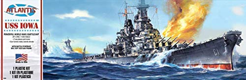 USS Iowa Big Battleship Plastic Model Kit 1/535 Atlantis Toy and Hobby