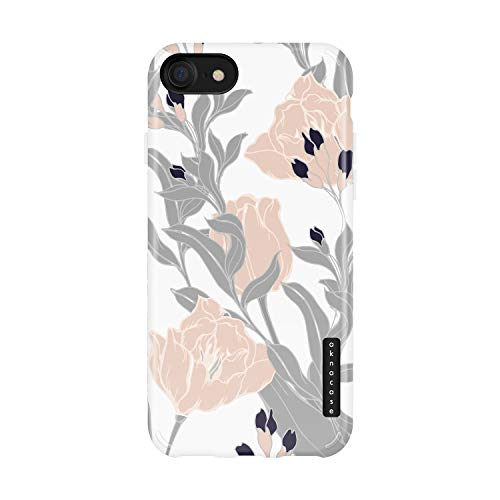 iPhone 8 & iPhone 7 & iPhone SE [2020 Released] Case Vintage Floral, Akna Sili-Tastic Series High Impact Silicon Cover for iPhone 7/8 & iPhone SE [2020 Released] (101709-U.S)
