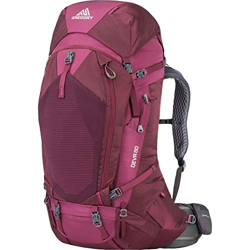 Gregory Mountain Products Women's Deva 60 Backpacking Pack Plum Red, Small