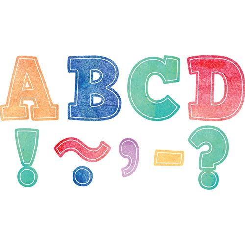 Teacher Created Resources Watercolor Bold Block 3' Magnetic Letters