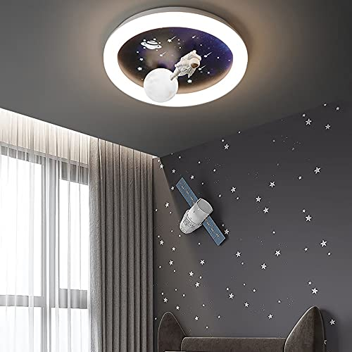 Niños Kids Room Planet Lámpara de araña, lámpara colgante de la forma azul marino azul marino de la navegación azul marino, nórdica DIRIGIÓ Lámparas de techo de protección ocular for camas for niños,