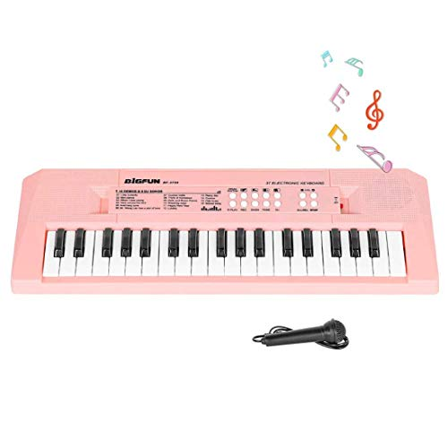 VikriDa Kids Keyboard Piano, 37 Keys Piano Keyboard for Kids Musical Instrument Gift Toys for Over 3 Year Old Children
