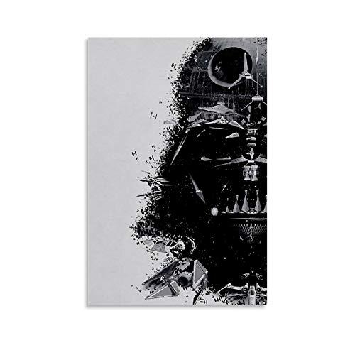 ASDZZ Impression sur toile « Best Darth Vader Drawing Drawing » - Pour chambre familiale - 40 x 60 cm