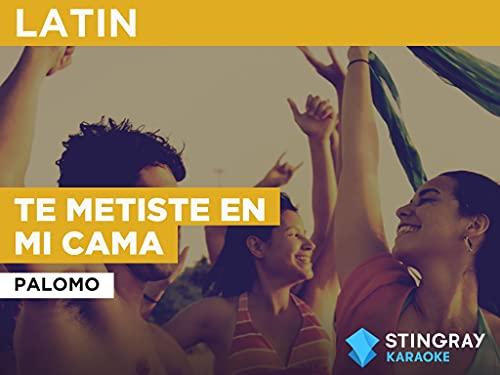 Te Metiste En Mi Cama in the Style of Palomo