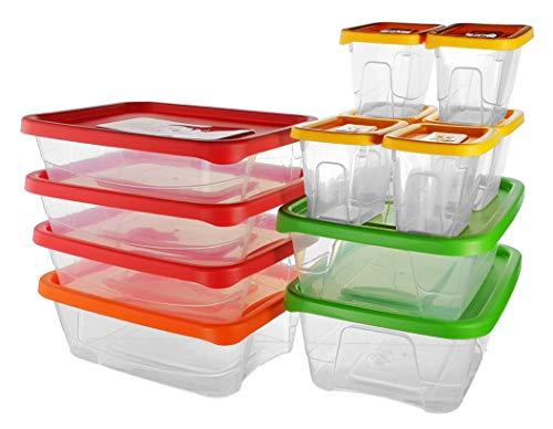 Premium Frischhaltedosen | Storage Container | Vorratsdosen | BPA frei & spülmaschinengeeignet | Mikrowellen-geeignet und Gefrierschrank-geeignet | Luftdicht | Aufbewahrungsdose (24 - teiliges Set)