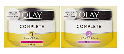 Olay Complete 3in1 Normal/Dry SPF15 Day Cream and Night Cream Moisturiser 50ml (Bundle set)