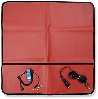StaticCare ESD Anti-Static Field Service Kit (Red) - Portable Anti-Static Work Surface - 24