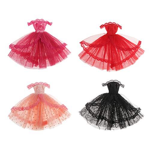 HomeDecTime 4 Lote 1/6 Lindo Vestido de Encaje Sin Tirantes para Trajes de Licca / Momoko / Azone