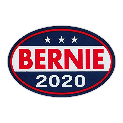 Oval Shaped Political Campaign Magnet - Bernie Sanders 2020 United States President (Red, White, Blue Design) - Magnetic Bumper Sticker