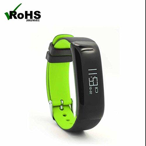 Bracelet Connectée Fitness Tracker d'Activité,écran tactile capacitif,Tracker Sommeil,d'Activité Fitness,Compteur de Calories,Alertes/Mémos et Réveil,Suivi du Sommeil Podomètre Alertes Appel Support Android Smartphones