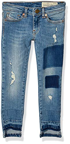 Diesel Girls' Big Skinny Jean, Skinzee Super Stretch Light Blue Denim, 8
