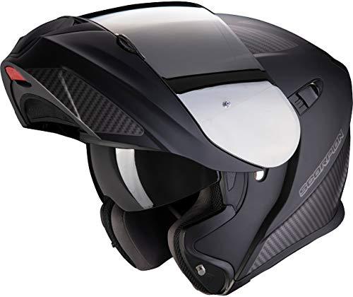 Casco moto Scorpion EXO-920 FLUX Matt Black-Silver, Nero, M