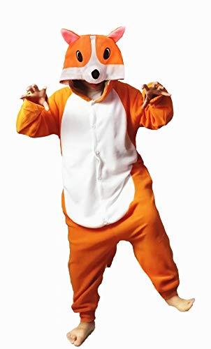 dressfan Animal Corgi Dog Pajamas for Kids Animal Costume Adult Pajamas for Women