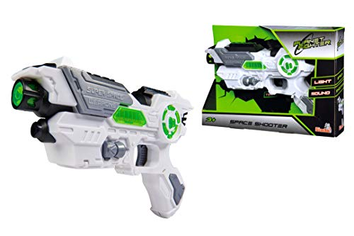Simba Planet Fighter Space Shooter 108042205 - Pistola láser (23 cm)