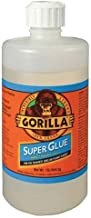 Gorilla Super Glue, Large 1 Pound Bulk Bottle, Clear