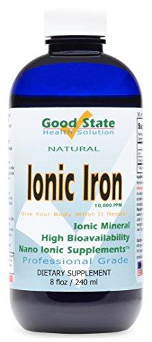 Good State Liquid Ionic Iron (48 servings at 10 mg elemental, plus 2 mg fulvic acid - 8 fl oz)