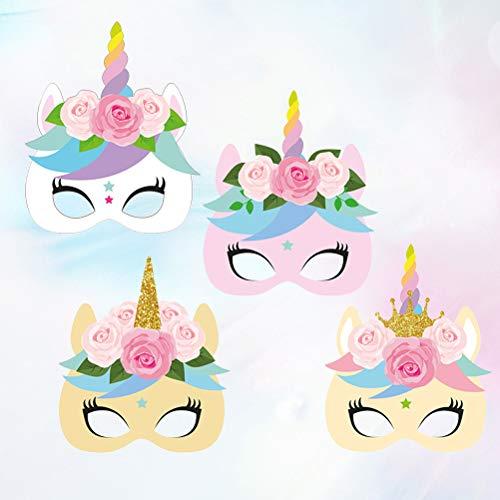 TOYANDONA 12 máscaras de unicornio hermosas, coloridas, encantadoras, máscaras de...