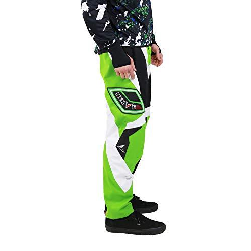 Nerve Shop Motocross Enduro Offroad Quad Cross Hose Herren Damen - schwarz-grün - M