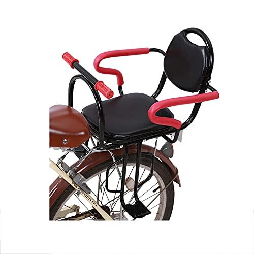 Seggiolino per Bici per Bambini, Seggiolino di Sicurezza per Bambini Seggiolino Posteriore Bici Bambini, con Maniglia e Pedale, per Bambini di 1-6 Anni (Max 40kg)