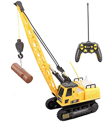 Top Race 12 Channel Remote Control Crane, Battery Powered Radio Control Construction Crane with Ligh - coolthings.us