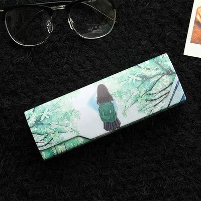 Reading Glasses Case - Foldable Storage Case- Matte Leather&Magnet Closure for school