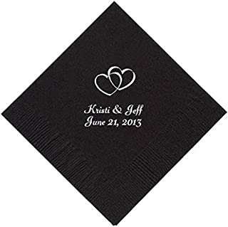 Personalized Cocktail, Beverage or Dessert Wedding Napkins - (200)