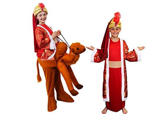 I LOVE FANCY DRESS LTD KRIPPENSPIELE Kamel+HEILIGE 3 KÖNIGE=Balthasar-Melchior+CASPAR= KOSTÜME VERKLEIDUNG=Kamel REITE Mich ODER MIT Oberteil =Kamel+Balthazar/MEDIUM