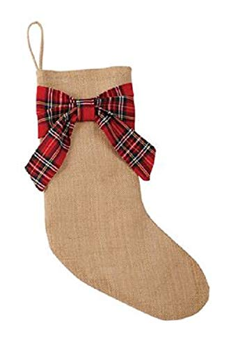 mud pie burlap stocking - 1