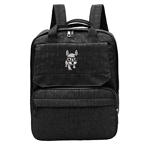 Lovely Striped Frenchie Puppy Unisex Backpacks Laptop Tablet Packs Camping Bags Travel Bookbags For Students