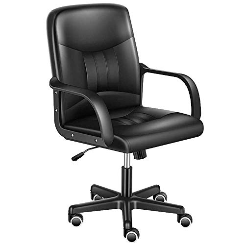 N/Z Home Equipment Swivel Chair Tall Executive Office Desk Chair Adjustable with Armrest Modern Comfort Swivel Home Office Task Rotatable Lifting Chair