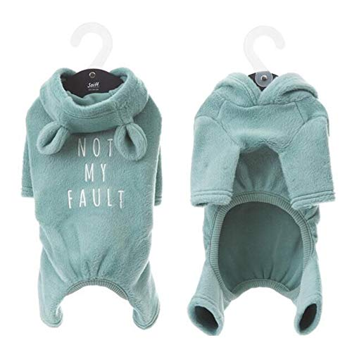 UICICI Hundebekleidung for kleine Hunde Pyjama for französische Bulldogge Baumwolloverall for Chihuahua Katze Welpe Haustier Mantel Kleidung Hundekostüm XXL (Farbe : Grün, Size : M)
