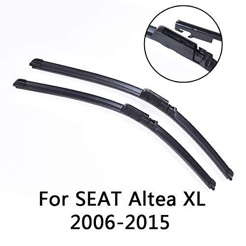 Liliguan ruitenwissers voor voorruit, voor Seat Altea XL 2006 2007 2008 2009 2010 2011 2012 tot 2015, ruitenwisserbladen van zacht rubber voor de auto