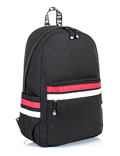 Leaper Laptop Backpack Girls Travel Bag School Bag Daypack 15.6-Inch Black1
