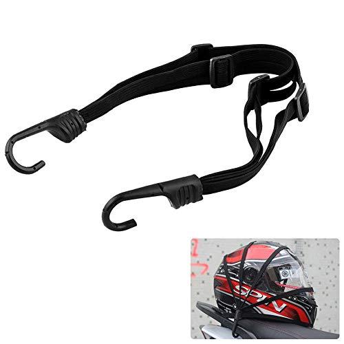 Spanngurte Gepäckspanner mit Haken Fahrrad Gepäckträger Motorrad Koffergurt Gummihaken für Fahrradkorb Helm (Schwarz, 59cm)