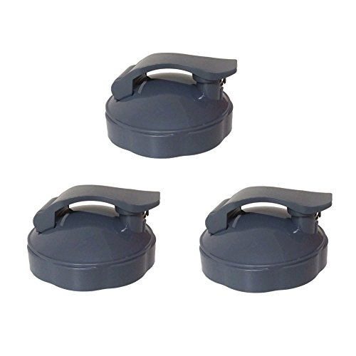 Blendin Replacement Parts, Compatible with Nutribullet Blenders (3 Pack Flip Top To-Go Lids)