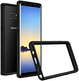 RhinoShield Bumper for Galaxy Note 8 [CrashGuard] | Shock Absorbent Slim Design Protective Cover - Compatible w/Wireless Charging [3.5M / 11ft Drop Protection] - Black