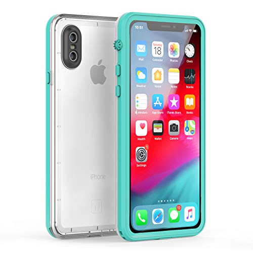 Fansteck iPhone X Waterproof Case/iPhone Xs Waterproof Case - Ultra Slim Full Sealed IP68 Waterproof Case for iPhone X/Xs - High Sensitive Touch with Built - in Screen Protector (5.8 inch)