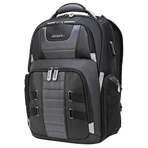 Targus DrifterTrek Backpack Designed for Travel and Commute Outdoor Use with USB Power Port fits up to 17.3-Inch Laptop, Black (TSB957GL)