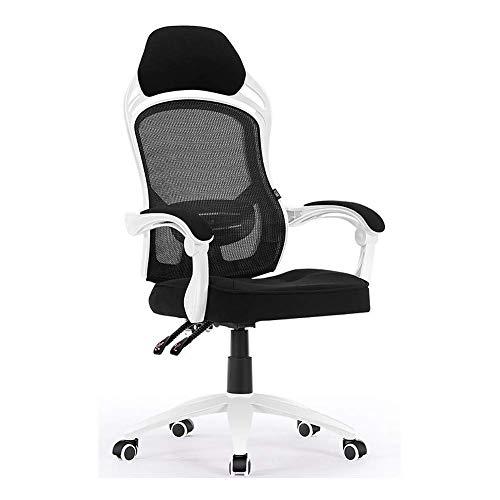 GaoF Chaise de Bureau, Chaise d'ordinateur Chaise de Bureau pivotante Chaise de Jeu Ergonomique Chaise Longue 66 x 66 x 121-129 cm Couleur Noire