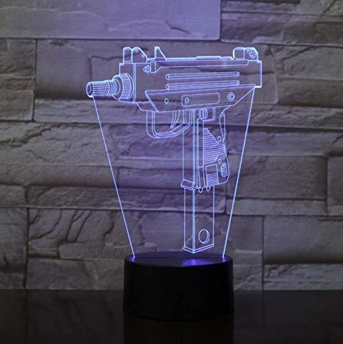 Infanterie Veilleuse Led 3D Illusion Usb Tactile Capteur RVB Enfant Enfants Cadeau Fps Jeu Arme Pistolet M4A1 Ak 47 Lampe de Table Bureau Bluetooth Contrôle