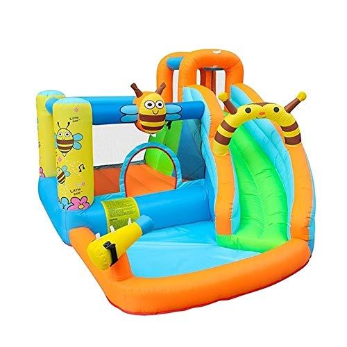 XMEIFEI PARTS Slide Abeja Agua Inflable Piscina casa de la Despedida Aquapark Gorila de Salto Castillo Hinchable for niños con soplador by