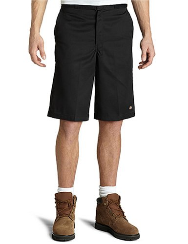 Dickies Men's 15 Inch Inseam Work Short With Multi Use Pocket, Black, 36 (loose fit)