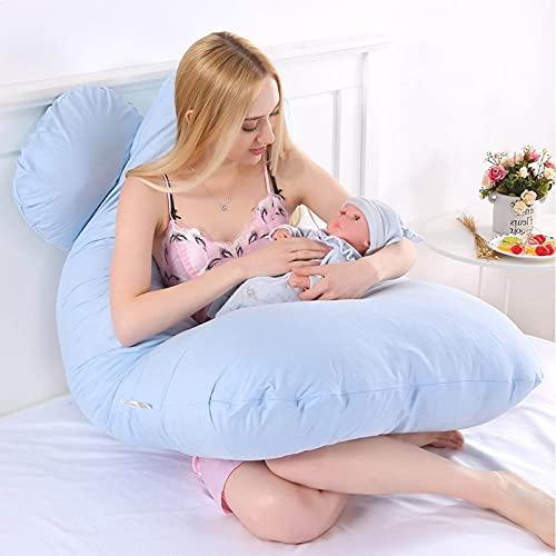SUMBITOD Almohada de Embarazo para Dormir, cómoda Almohada de Embarazo Multifuncional en Forma de U, Funda de Almohada extraíble para el Cuerpo de Maternidad (Color : A)