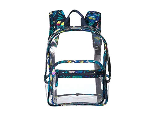 Vera Bradley Clearly Colorful Stadium Backpack Moonlight Garden One Size