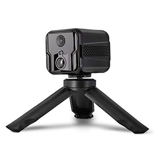MIHATERU Premium Mini Kamera mit App innen WLAN IP Kamera Akku live Übertragung Handy Bewegungssensor Nachtsicht Audio tragbar unauffällig Sicherheitskamera Babykamera Versteckt Überwachungskamera