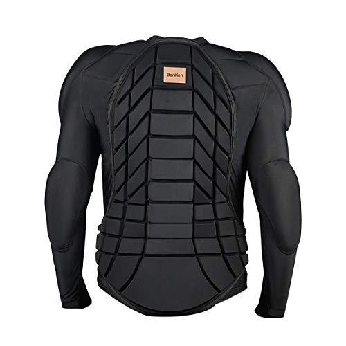 BenKen-Armadura para esquiar al aire libre,ropa deportiva anticolisión, protección de espalda,equipo de protección para snowboard para esquí y ciclismo, Armadura de cuerpo de esquí, tamaño extra-large