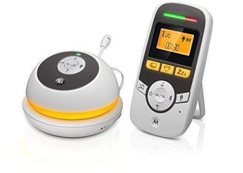 Motorola Baby MBP169 - Monitor de bebé portátil de audio con pantalla de 1,5 pulgadas y temporizador para el cuidado del bebé - Blanco