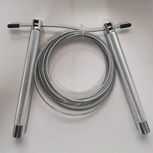 LIUCHEN saltar la cuerdaHerramienta de aluminio de la aptitud de la forma de la cuerda del salto del salto de los 3m del diámetro de los 2.5m m con el rodamiento debolitas PLATA