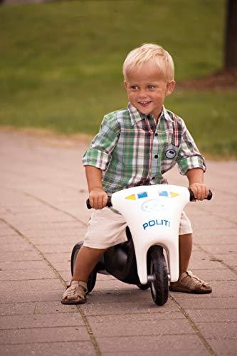 Dantoy Polizei Scooter mit Gummi-Rädern / Länge: 60cm / Breite: 39cm / Höhe: 37cm / Sitzhöhe: 26cm / 2+