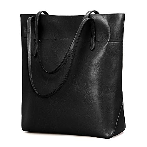 Material: Vintage waxed cowhide split leather tote handbag, top metal hardware Structure: Inside: 2 main pockets, 1 central zip pocket, 1 invisible pocket and 2 open pockets. 2 slots for small items; 1 back zipper pocket is good for your phone or key...
